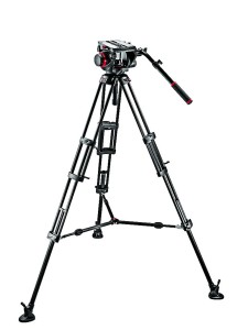 Statyw Manfrotto VIDEO PRO 545B, głowica 509HD i torba