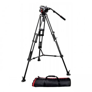 Statyw Manfrotto VIDEO PRO 546B, głowica 504HD i torba